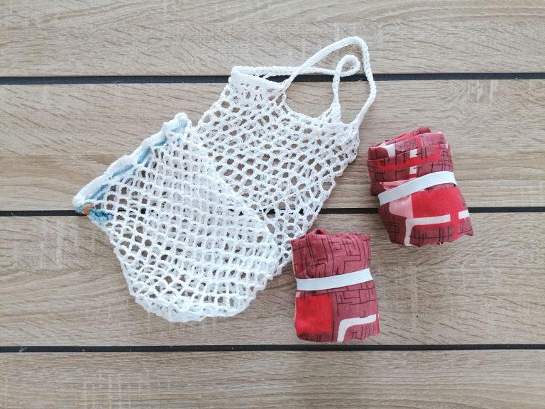 Bolsas de crochet y de tela